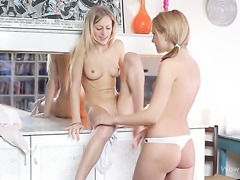 Natasha Von gets her wet hole attacked by lesbian Lorenas tongue