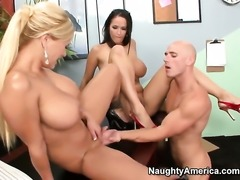 Johnny Sins makes Shyla Stylez scream and shout with his throbbing rod in her...