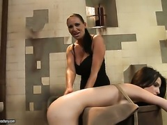 Brunette hooker Ann Marie La Sante and Mandy Bright both have fierce appetite...