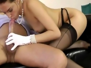 Hardcore european stocking milfs sucking and fucking lucky guy