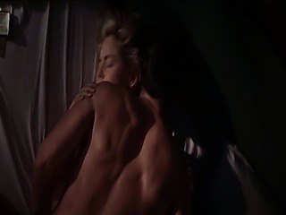 Sharon Stone first seen bottomless as a guy goes down on