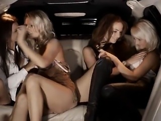 shocking group sex in limo