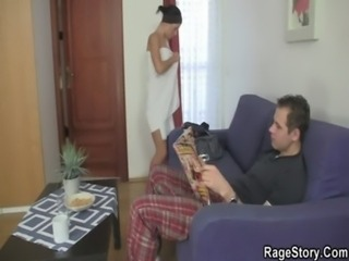 Teen slut takes it rough from behind free