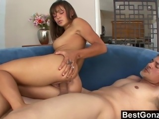 Olivia Wilder is a very attractive brunette babe that has a lovely ass. She grinds on a big dick for minutes before the guy just cannot hold it in anymore. He drops a load directly on her hot butthole.