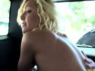Paris earns some spring break cash riding her mans cock.