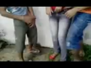 Fsiblog - Desi college students outdoor fun MMS - Indian Porn Videos free