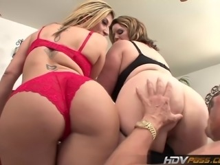 These two bangin MILF babes love to suck a nice juicy cock. Watch as they have an MFF threesome with a lucky son of a bitch