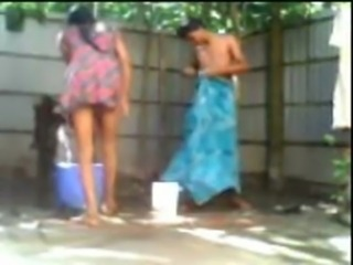 Indian Desi Couple Fucking While Taking Outdoor Bath free