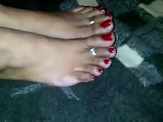 this barely legal Indian girl gives me her very first footjob ,she has cute...