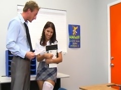 InnocentHigh Naturally busty schoolgirl Evi Fox fucks teacher