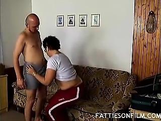 Plumper Faye Sucking a Cock