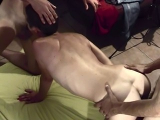 WIFE JUSTINE FRIEND HUSBAND THREESOME FUCKING FACIAL MMF
