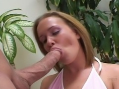 Blonde gets mouth fucked and facialized