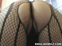 big ass English milf big butt workout in pantyhose free