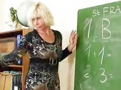 Cougar teacher loves to masturbate after school