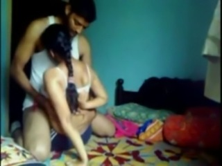 Smart indian College Girl enjoyed with her BF at his ROOM free