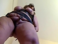 saggy fat milf upskirt striptease