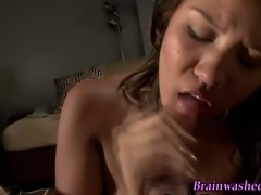 POV- Amateur teen gets facial in HD