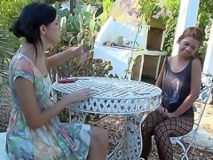 Awesome and crazy outdoor with gentle lesbian girls named Mia and Romea
