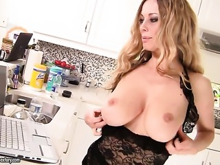 Blonde Anita Dark with juicy boobs and lesbian Sandy have wild sex on cam for...