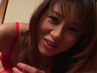Remi Matsukawa is an elegant Japanese pornstar and she loves getting all dressed up for hot scenes and getting her cooch drilled. Today, she is wearing some truly sexy red lingerie and stockings and she is working on that cock like only a slut of her stature can.