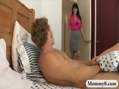 Teen and stepmom share a good hard cock free