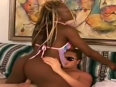 White dude is spending unforgettable time with black hottie. The busty...