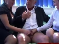 SPH for a worthless old guy by 2 femdoms