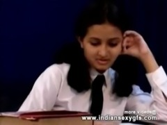 Horny Indian PornStar  Babe as School girl Squeezing Big Boobs and  Babe masturbating Part1 - indian free