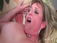 Chubby french cougar gets ass fucked by a young big dick free
