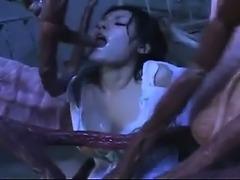 Freaky tentacles gang bang horny asian nurse