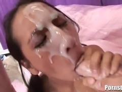 This petite but extremely cock-hungry brunette porn chick Amia Moretti gets...