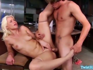 Blonde pornstar babe rides cock and she cant get enough
