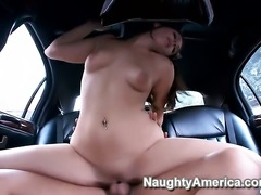 Gracie Glam with big butt and trimmed bush is another fucktoy of hard dicked...