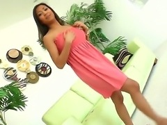 Exotic long haired tanned asian Kai with medium firm hooters and tight sweet...