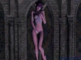3D Lesbian Elf Porn Masturbation Fantasy