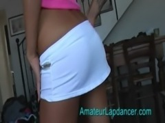 Sporty teen lapdancing free