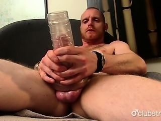 Tattooed Straight JJ Fucking A Fleshlight