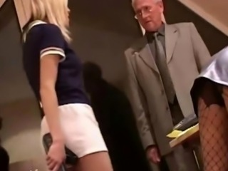 Blonde caught flirting punished with catfight and double hardcore fuck