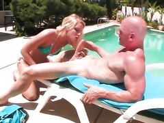 Vanessa Cage gagging on guys stiff worm