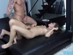 Brunette pornstar gets pussy ravaged and she cant get enough