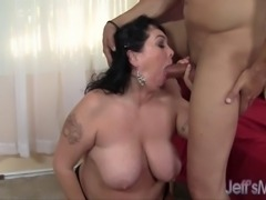 BBW Alexis Couture gets her fat cunt licked, and then sucks her man's big...