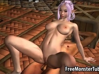Mouth watering 3D cartoon elf honey getting her soaking wet pussy licked and...