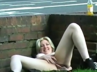 Amateur blondes outdoor masturbation and public nudity of sexy milf in homemade exhibitionist footage