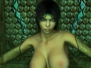 3D CGI Big Tits Elf Seductress Dance