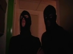 Redhead gangbanged by few masked men free