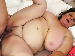 Brunette cant resist the temptation to take his hard cock in her love hole