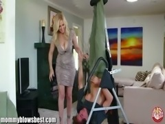 MommyBB Busty MILF Julia Ann is sucking my tied up boyfriend! free