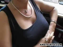 Busty amateur Milf sucks and fucks with facial free