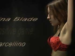 Kinky, sensitive bdsm game performed by Tina Blade